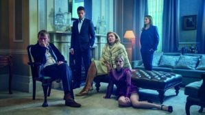from l-r, Dimitri (Aleksey Serebryakov), Alex (James Norton), Oksana (Maria Shukshina), Katya (Faye Marsay) and Rebecca (Juliet Rylance)